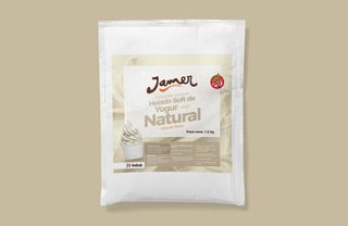 Polvo Helado Soft Yogurth Natur 1,5 Kg Jamer Helados Candy