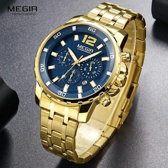 Relógio Megir 2068 Masculino Cronógrafo Original