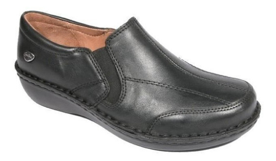Mocasin Cavatini 50-1560-mocasin Doble Flor Negro