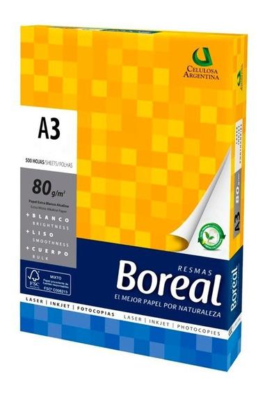 Resma A3 80gr Boreal Blanco