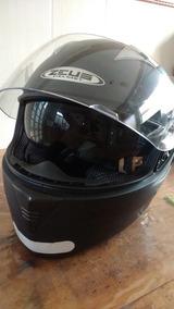 Capacete Zeus Helmet 55 C/oculos Solar