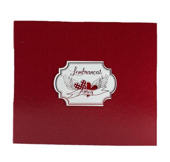 Caixa Rígida Com Álbum Lembranças Amor Vermelho
