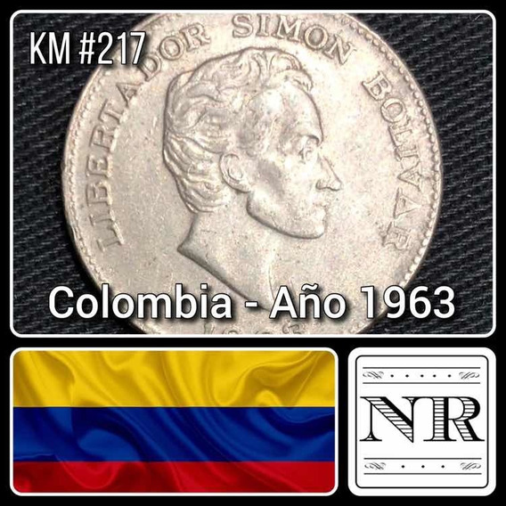 Colombia - 50 Centavos - Año 1963 - Km # 217 - Bolivar