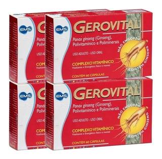 Kit 4x Gerovital Complexo Vitamínico Com 240 Cápsulas Total