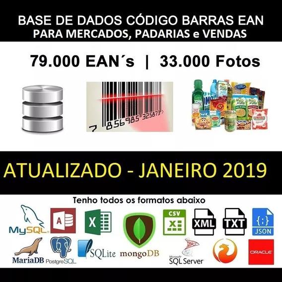 Banco De Dados Para Supermercado + 100 Mil Itens + Cod Ean