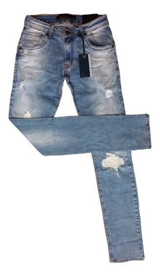 Calça Jeans Masculina Colcci Délavé Slim Fit Original Lycra
