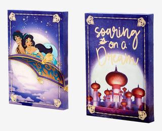 Set 2 Cuadros Decorativos Disney Aladdin Original Hottopic