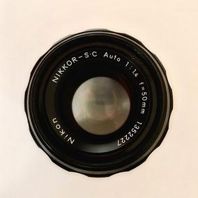 Lente Nikon 50 Mm 35mm 1.4 Japan Mecânica - 12xs/juros
