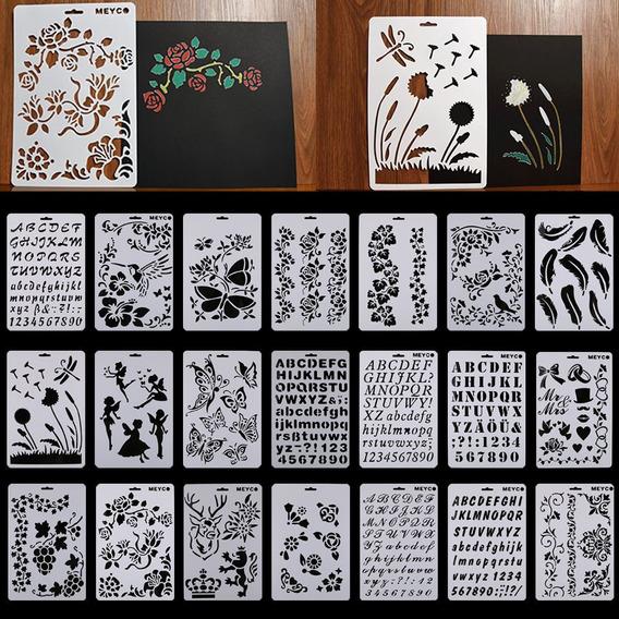 Combo 18 Stencil 30 X 20 Pared Tela Piso Muebles Deco