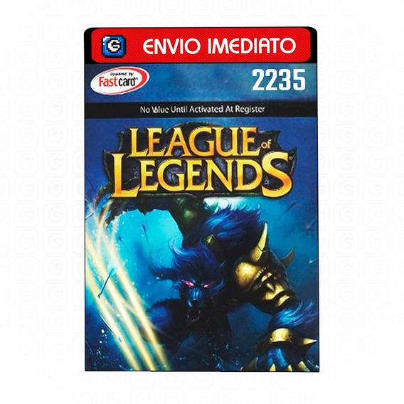 League Of Legends Lol - Cartão 2235 Riot Points Rp Br Brasil