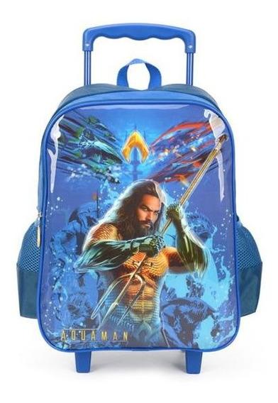 Mochila Escolar Com Rodinhas Para Meninos - Aquaman Luxcel