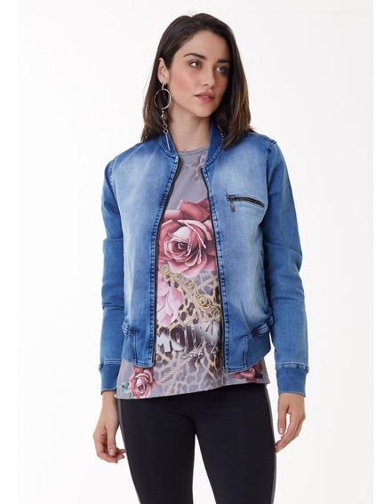 Jaqueta Jeans Feminina Moikana Ref. 308116