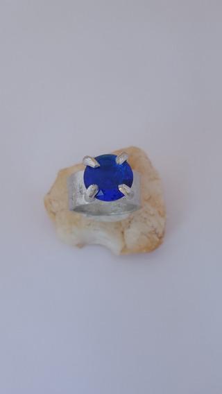 Anel Solitário Pedra Azul Administracao Engenharia Musica