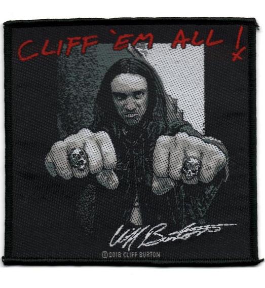 Patch Microbordado - Metallica - Cliff