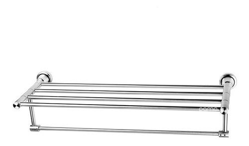 Imagen 1 de 2 de Toallero Repisa Lujo Aluminio Para Baño Alta Calidad