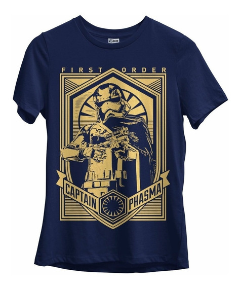 Camiseta Feminina Star Wars Capitã Phasma Geek Filmes