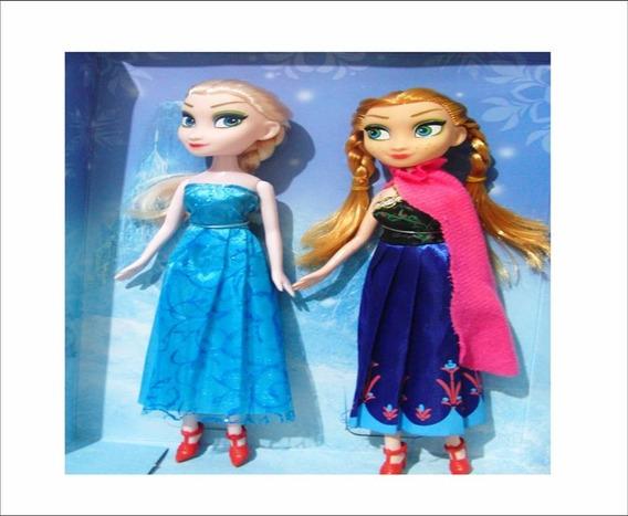 Muñeca Frozen Elsa Y Ana Niñas - Juguete 24 Cm