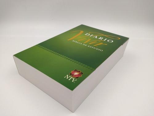 Biblia Estudio Diario Vivir Ntv Tamaño Personal Color Verde
