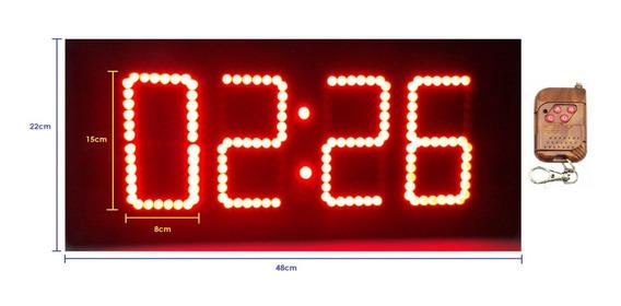 Reloj Digital De Leds Cronómetro Exteriores Chicharra