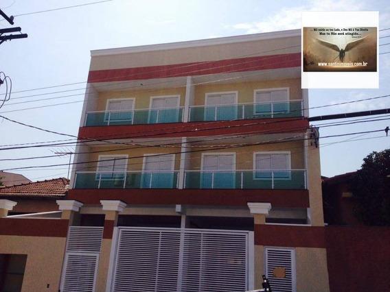 Cobertura Com 02 Dormitórios,fino Acabamento Residencial À Venda, Campestre, Santo André. - Co0256