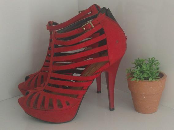 Sandalia Salto Alto Vermelha