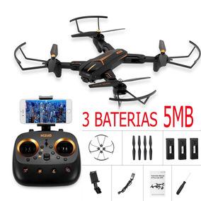 Novo Drone Visuo Xs812 3 Baterias Com Gps Câmera 5mp