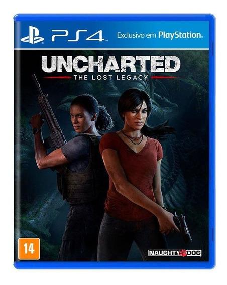 Uncharted The Lost Legacy Ps4 Mídia Física Novo Lacrado