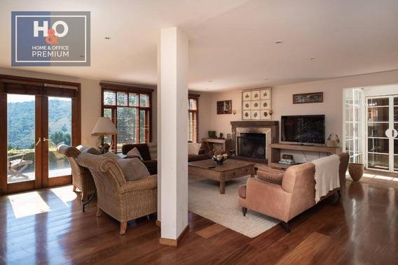Casa Com 5 Dormitórios À Venda, 300 M² Por R$ 950.000,00 - Morro Do Elefante - Campos Do Jordão/sp - Ca0123