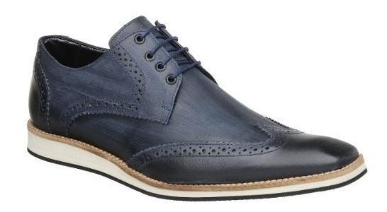 Sapato Oxford Masculino Malbork Em Couro Marinho