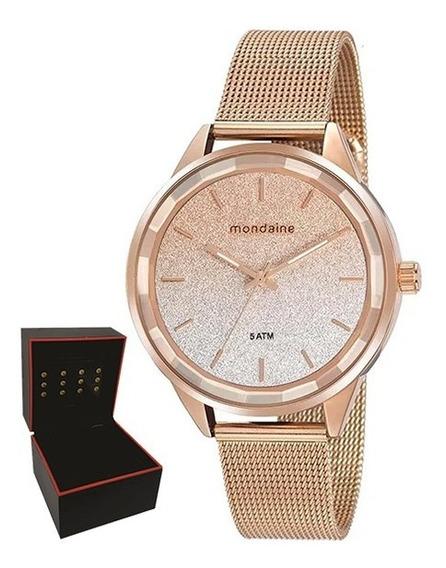 Relógio Mondaine Feminino Original Garantia Nf 76735lpmvre2