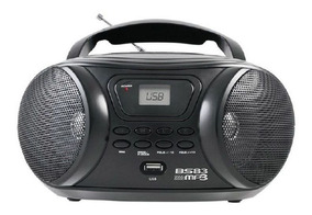 Radio Portatil 3,4w Britania Usb Mp3 Fm Ant Telescópica Bs83