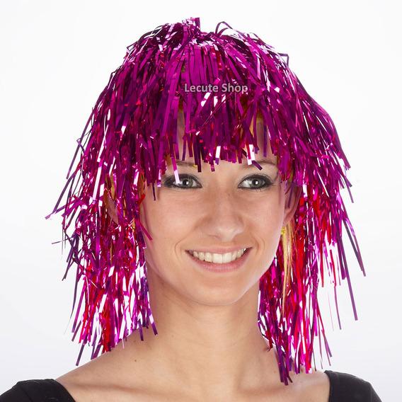 10 Pelucas Metalicas Papel Fiesta Batucada Rave Antro Disco