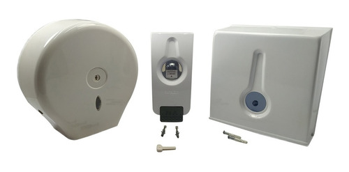 Kit Dispensador De Toallas Circular Y Cuadrad+disp. De Jabón