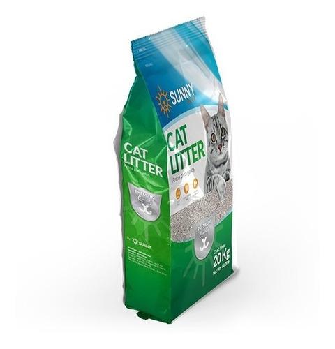 Arena Para Gato Premium Sunny 20 Kg Natural