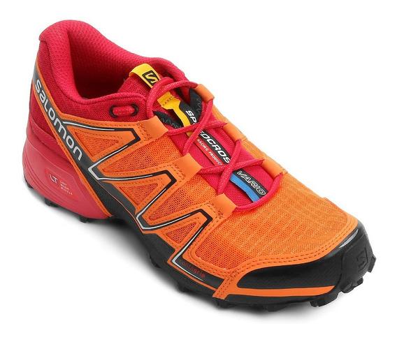 Tênis Speedcross Vario Salomon - Laranja E Vermelho