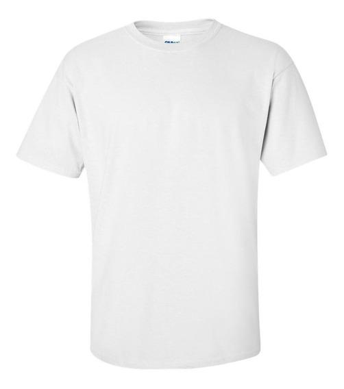 Camisetas Infantil Branca Básica Lisa Tam 2 Ao 16