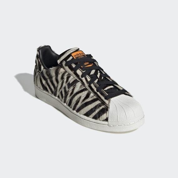Tênis adidas Superstar Originals -zebra