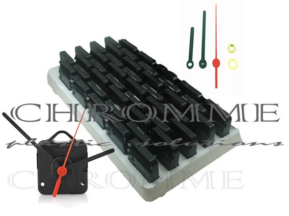 Maquina Para Relógio Quartz - Emb C/ 20 Mecanismos Completos