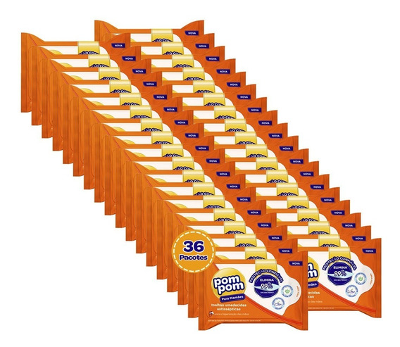 Kit Pom Pom Lenco Antisseptico 720un
