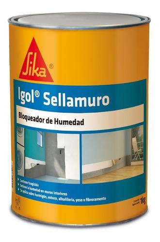 Imagen 1 de 6 de Igol Sellamuro Revestimiento Bloqueador Humedad De Muros 1kg