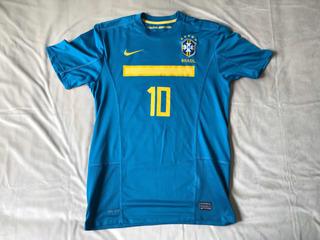Camisa / Camiseta De Futebol Do Brasil Azul-marinho Tam. M