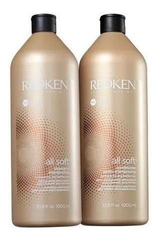 Redken All Soft Shampoo 1000ml E Condicionador 1000ml