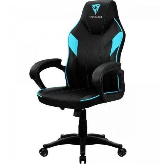 Cadeira Gamer Ec1 Black Cyan Thunderx3