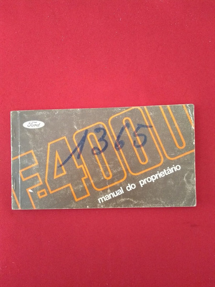 Manual Da Ford F-4000 Original