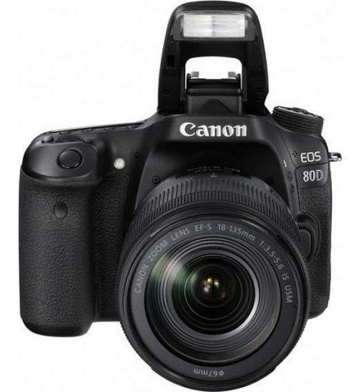 Câmera Canon Eos 80d Ef-s Com Lente 18-135mm Is Usm
