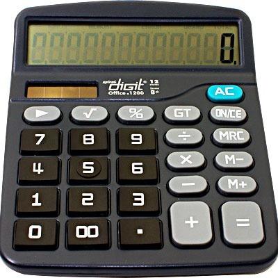 Calculadora Digital De Mesa 12 Dígitos A Bateria Ou Solar!!!