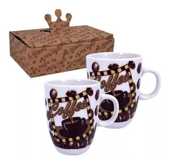 Juego Cafe Ceramica Taza Pocillo / 6 Unidades