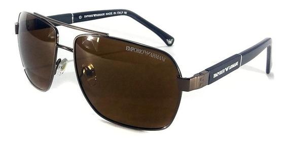 Oculos De Sol Masculino Ea3073 Armani Premium Lente Uv400