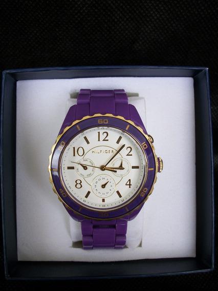 Relógio Unisex Tommy Hilfiger Lilás Novo Unico No Ml !!!!!!