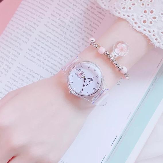 Hermoso Reloj Para Dama Puerquito Tierno Moda Casual